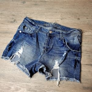 WildFlower Desitressed Denim Shorts. Perfect!